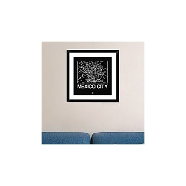 Naxart 'Black Map of Mexico City' Framed Graphic Art Print; 24'' H x 24'' W x 1.5'' D