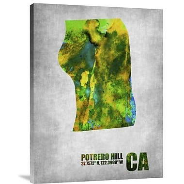 Naxart 'Potrero Hill California' Graphic Art Print on Canvas; 24'' H x 18'' W x 1.5'' D