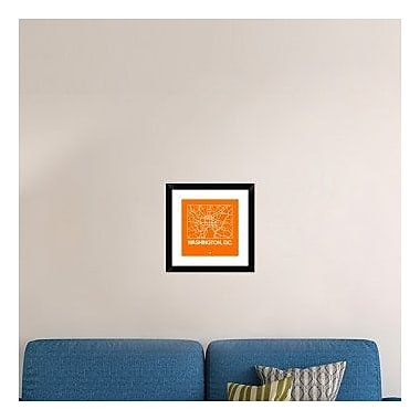 Naxart 'Orange Map of Washington, D.C.' Framed Graphic Art Print; 18'' H x 18'' W x 1.5'' D