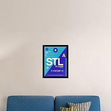 Naxart 'STL St. Louis Luggage Tag II' Framed Graphic Art Print on Canvas; 26'' H x 20'' W x 1.5'' D