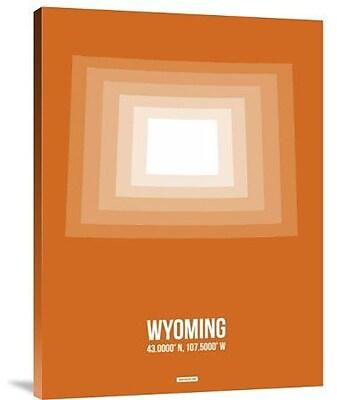 Naxart 'Wyoming Radiant Map 3' Graphic Art Print on Canvas; 40'' H x 30'' W x 1.5'' D