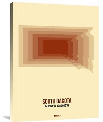 Naxart 'South Dakota Radiant Map 1' Graphic Art Print on Canvas; 32'' H x 24'' W x 1.5'' D