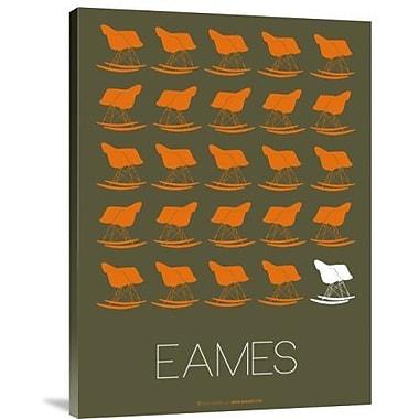 Naxart 'Eames Rocking Chair' Graphic Art Print on Canvas; 24'' H x 18'' W x 1.5'' D