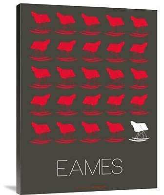Naxart 'Eames Red Rocking Chair' Graphic Art Print on Canvas; 32'' H x 24'' W x 1.5'' D