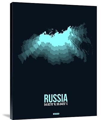 Naxart 'Russia Radiant Map 2' Graphic Art Print on Canvas; 24'' H x 18'' W x 1.5'' D