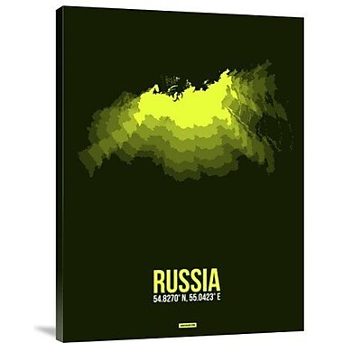 Naxart 'Russia Radiant Map 3' Graphic Art Print on Canvas; 32'' H x 24'' W x 1.5'' D
