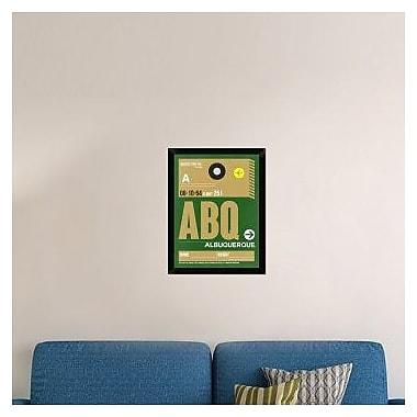 Naxart 'ABQ Albuquerque Luggage Tag I' Framed Graphic Art Print on Canvas; 26'' H x 20'' W x 1.5'' D