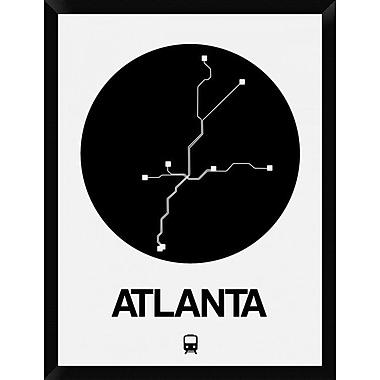 Naxart 'Atlanta Black Subway Map' Framed Graphic Art Print on Canvas; 34'' H x 26'' W x 1.5'' D