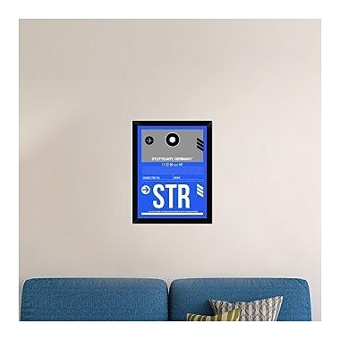 Naxart 'STR Stuttgart Luggage Tag II' Framed Graphic Art Print on Canvas; 26'' H x 20'' W x 1.5'' D