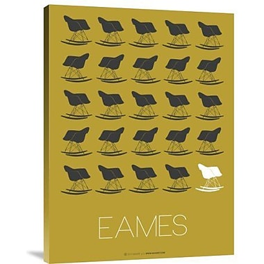 Naxart 'Eames Gray Rocking Chair' Graphic Art Print on Canvas; 16'' H x 12'' W x 1.5'' D