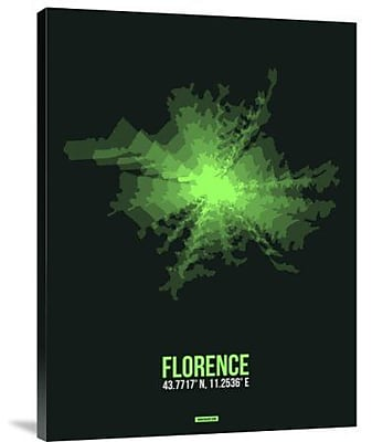 Naxart 'Florence Radiant Map 3' Graphic Art Print on Canvas; 16'' H x 12'' W x 1.5'' D