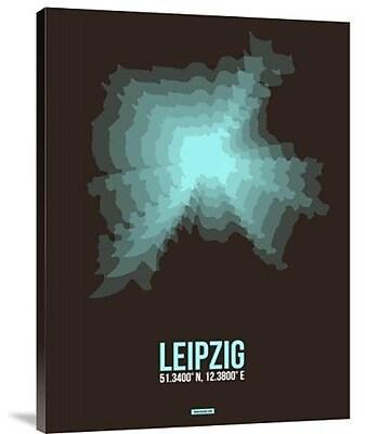 Naxart 'Leipzig Radiant Map 2' Graphic Art Print on Canvas; 32'' H x 24'' W x 1.5'' D