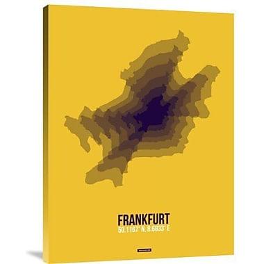 Naxart 'Frankfurt Radiant Map 4' Graphic Art Print on Canvas; 24'' H x 18'' W x 1.5'' D