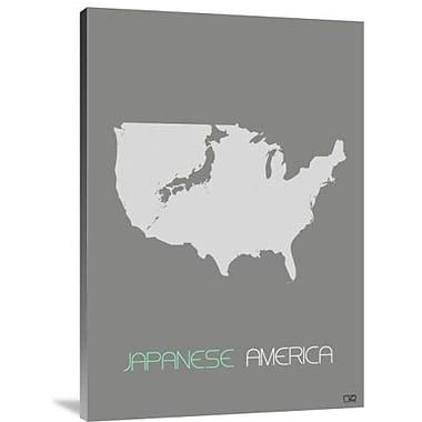 Naxart 'Japanese America' Graphic Art Print on Canvas; 22'' H x 15'' W x 1.5'' D