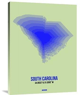 Naxart 'South Carolina Radiant Map 2' Graphic Art Print on Canvas; 32'' H x 24'' W x 1.5'' D