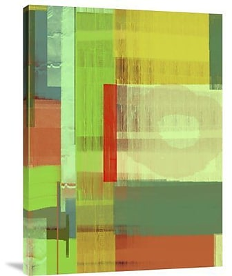 Naxart 'Green and Brown Abstract 3' Painting Print on Canvas; 16'' H x 12'' W x 1.5'' D
