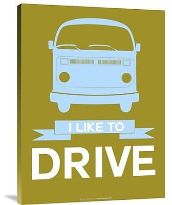 Naxart 'I Like to Drive 2' Graphic Art Print on Canvas; 24'' H x 18'' W x 1.5'' D