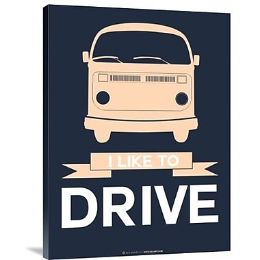 Naxart 'I Like to Drive 3' Graphic Art Print on Canvas; 16'' H x 12'' W x 1.5'' D