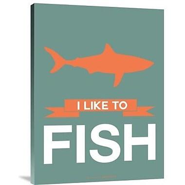 Naxart 'I Like to Fish 1' Graphic Art Print on Canvas; 24'' H x 18'' W x 1.5'' D