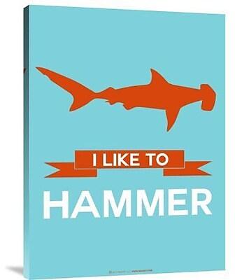 Naxart 'I Like to Hammer 1' Graphic Art Print on Canvas; 32'' H x 24'' W x 1.5'' D