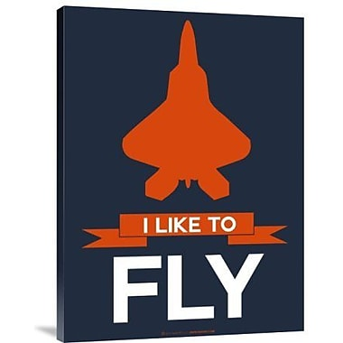 Naxart 'I Like to Fly 1' Graphic Art Print on Canvas; 40'' H x 30'' W x 1.5'' D