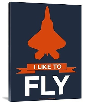Naxart 'I Like to Fly 1' Graphic Art Print on Canvas; 32'' H x 24'' W x 1.5'' D