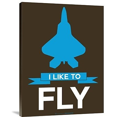 Naxart 'I Like to Fly 2' Graphic Art Print on Canvas; 24'' H x 18'' W x 1.5'' D