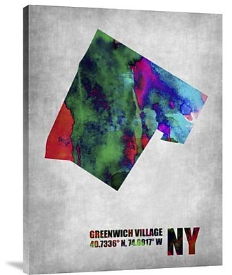Naxart 'Greenwich Village New York' Graphic Art Print on Canvas; 24'' H x 18'' W x 1.5'' D