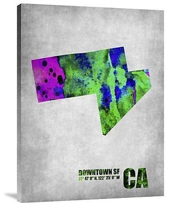 Naxart 'Downtown San Francisco' Graphic Art Print on Canvas; 24'' H x 18'' W x 1.5'' D