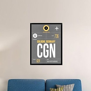 Naxart 'CGN Cologne Luggage Tag II' Framed Graphic Art Print on Canvas; 42'' H x 32'' W x 1.5'' D