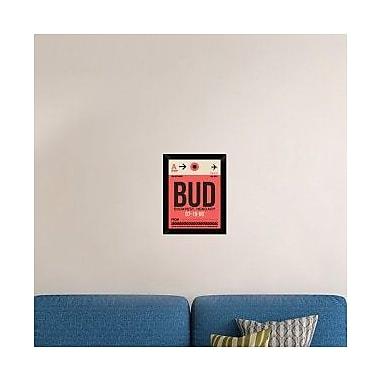 Naxart 'BUD Budapest Luggage Tag I' Framed Graphic Art Print on Canvas; 18'' H x 14'' W x 1.5'' D