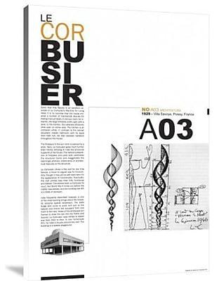 Naxart 'Le Corbusier' Textual Art on Canvas; 18'' H x 12'' W x 1.5'' D