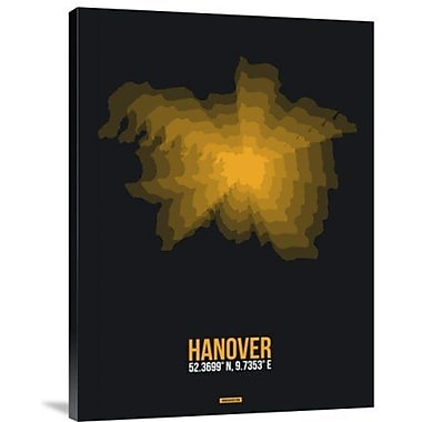 Naxart 'Hanover Radiant Map 1' Graphic Art Print on Canvas; 16'' H x 12'' W x 1.5'' D