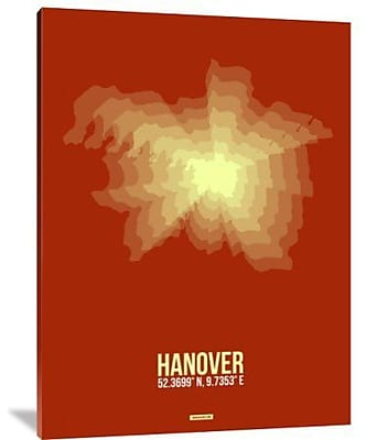 Naxart 'Hanover Radiant Map 3' Graphic Art Print on Canvas; 24'' H x 18'' W x 1.5'' D