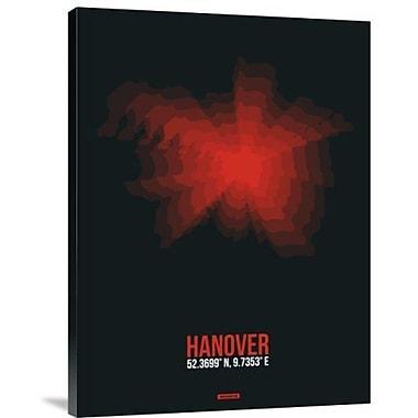 Naxart 'Hanover Radiant Map 4' Graphic Art Print on Canvas; 32'' H x 24'' W x 1.5'' D