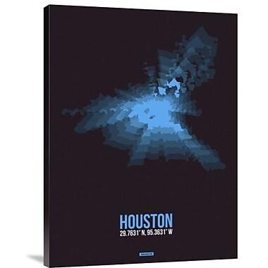 Naxart 'Houston Radiant Map 1' Graphic Art Print on Canvas; 32'' H x 24'' W x 1.5'' D