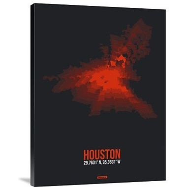 Naxart 'Houston Radiant Map 2' Graphic Art Print on Canvas; 24'' H x 18'' W x 1.5'' D