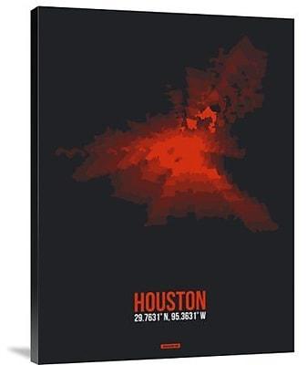 Naxart 'Houston Radiant Map 2' Graphic Art Print on Canvas; 32'' H x 24'' W x 1.5'' D