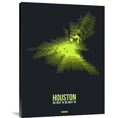 Naxart 'Houston Radiant Map 3' Graphic Art Print on Canvas; 16'' H x 12'' W x 1.5'' D