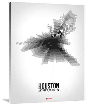 Naxart 'Houston Radiant Map 4' Graphic Art Print on Canvas; 24'' H x 18'' W x 1.5'' D