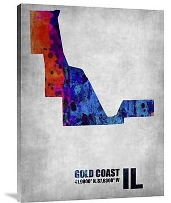 Naxart 'Gold Coast Illinois' Graphic Art Print on Canvas; 24'' H x 18'' W x 1.5'' D