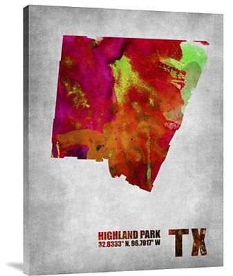 Naxart 'Highland Park Texas' Graphic Art Print on Canvas; 32'' H x 24'' W x 1.5'' D