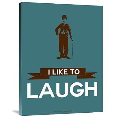 Naxart 'I Like to Laugh 3' Graphic Art Print on Canvas; 40'' H x 30'' W x 1.5'' D