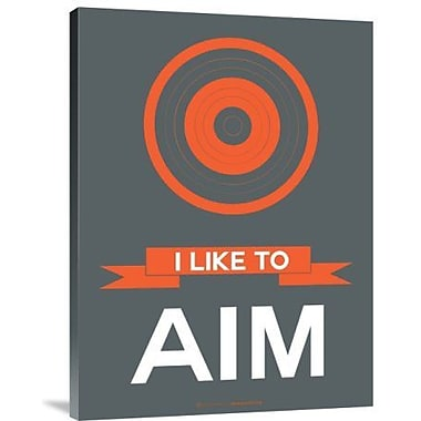 Naxart 'I Like to Aim 1' Graphic Art Print on Canvas; 16'' H x 12'' W x 1.5'' D