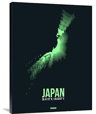 Naxart 'Japan Radiant Map 2' Graphic Art Print on Canvas; 40'' H x 30'' W x 1.5'' D