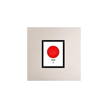Naxart 'Tokyo Red Subway Map' Framed Graphic Art Print; 22'' H x 18'' W x 1.5'' D