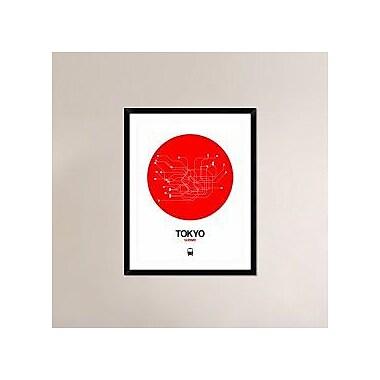 Naxart 'Tokyo Red Subway Map' Framed Graphic Art Print; 38'' H x 30'' W x 1.5'' D