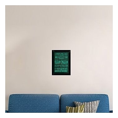Naxart 'Success Set Green' Framed Textual Art on Canvas; 18'' H x 13'' W x 1.5'' D
