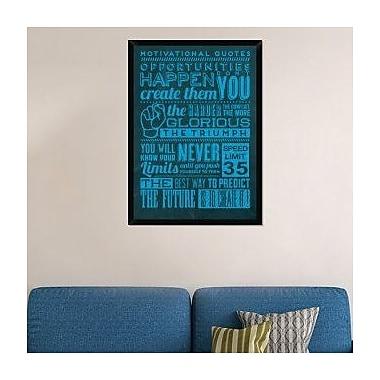 Naxart 'Opportunities Set Blue' Framed Textual Art on Canvas; 42'' H x 30'' W x 1.5'' D
