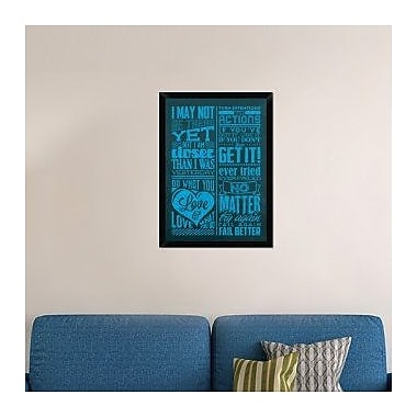 Naxart 'Achievement Set Blue' Framed Textual Art on Canvas; 32'' H x 23'' W x 1.5'' D